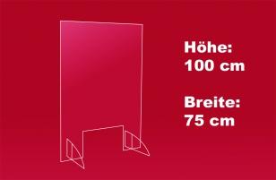 2. Nies- und Spuckschutz 75 x 100 cm